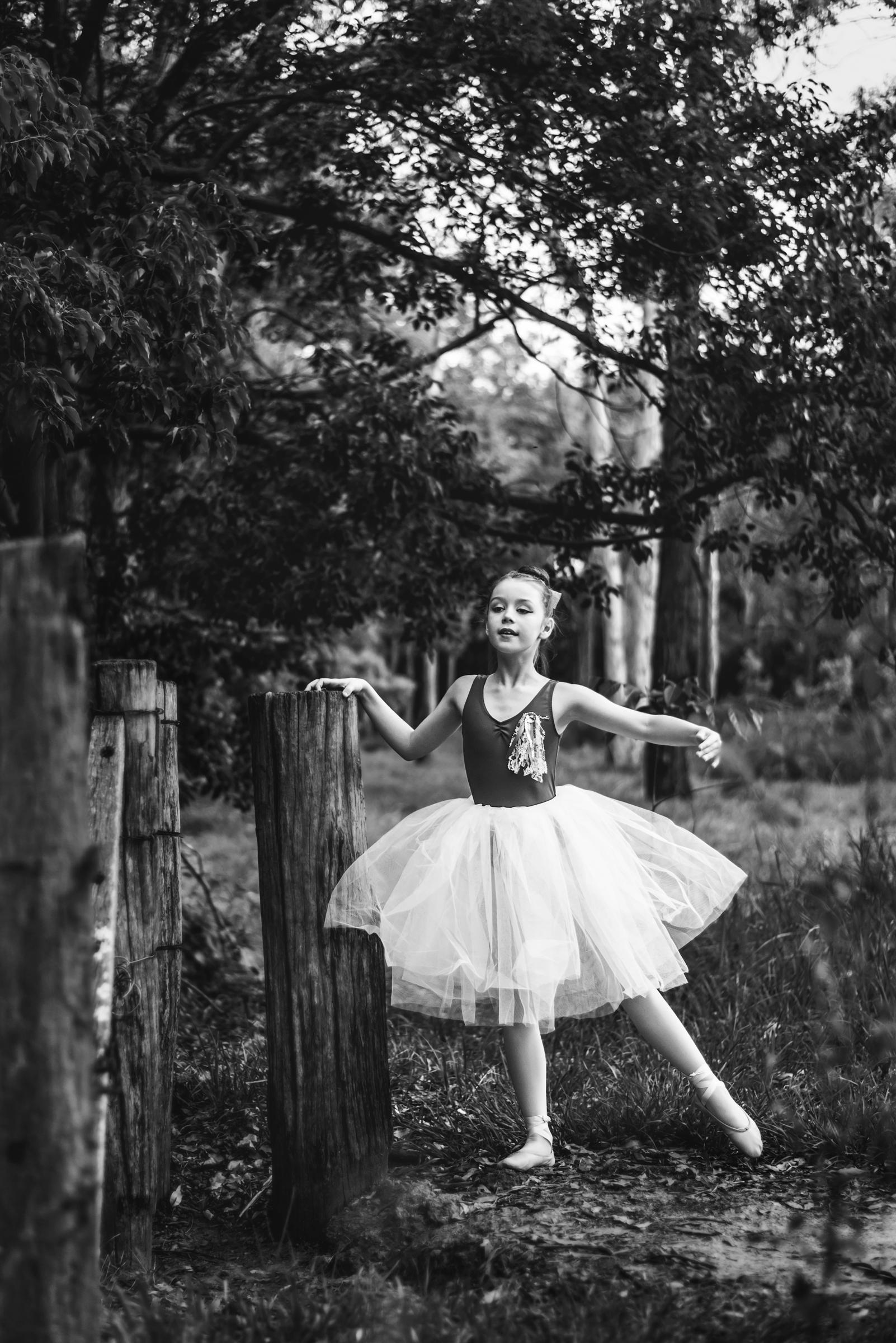 North Brisbane dancer in bush environment