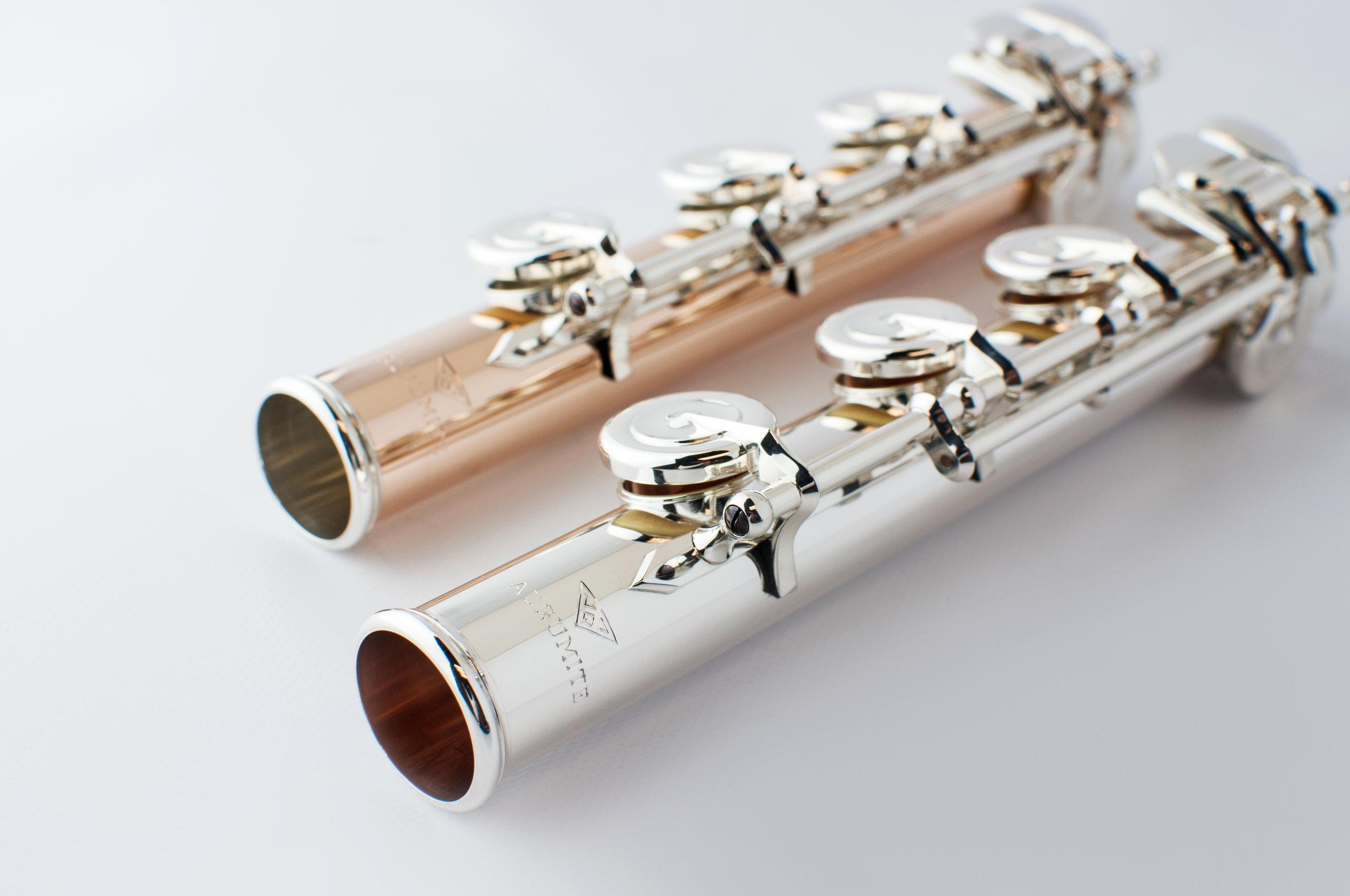 Flautas  Conservatory  Feitas à Mão em Aurumite 9k e prata sterling