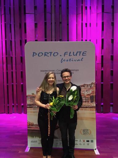 """Com o compositor alemão, Sören Sieg, cuja obra para flauta solo """"So Long"""" estreei no Porto.Flute Festival, dia 13 de Fevereiro."""
