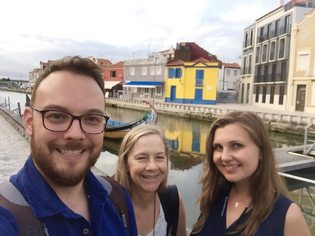 With Daniel Sharp of Powell Flutes and Irina Stachinskaya, Powell Artist, on the canals in Aveiro