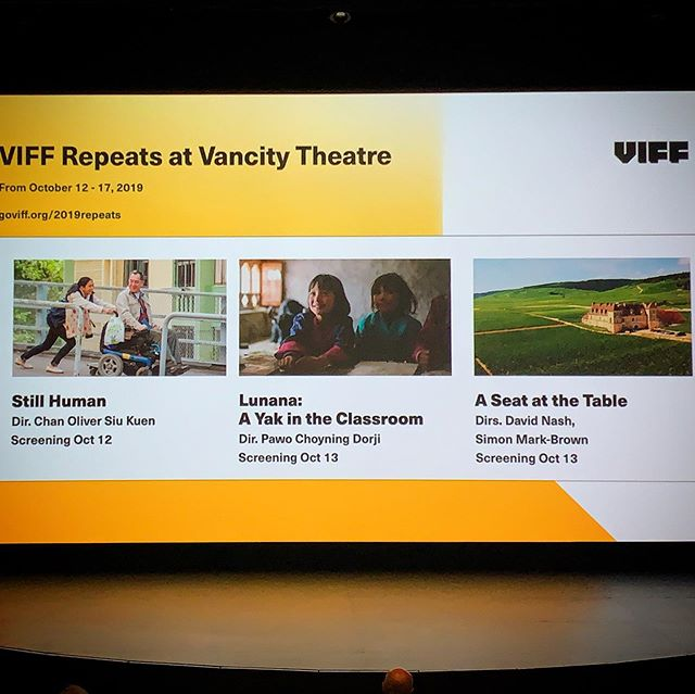 Every year out of 300+ feature length films the @viffest community pick their 20 most loves flicks to come back for an encore run of screenings 🎬🎟🍷 A Seat at the Table has made the top twenty 🙌🏻💯 Thank you Vancouver, drink well!