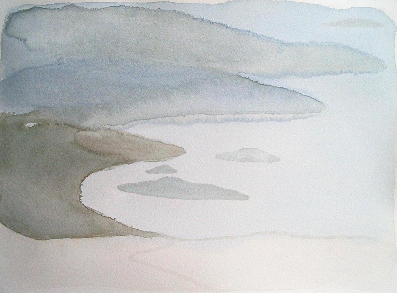 greek landscape  watercolour  SOLD
