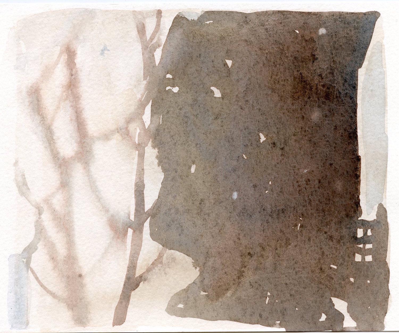wall shadow  watercolour  13x19cm