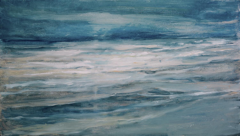 incoming tide   oil on gessoed linen  21x36 cm