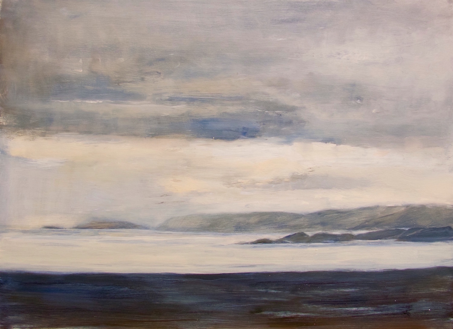 early morning, Iona   oil on gesso panel   35x49 cm