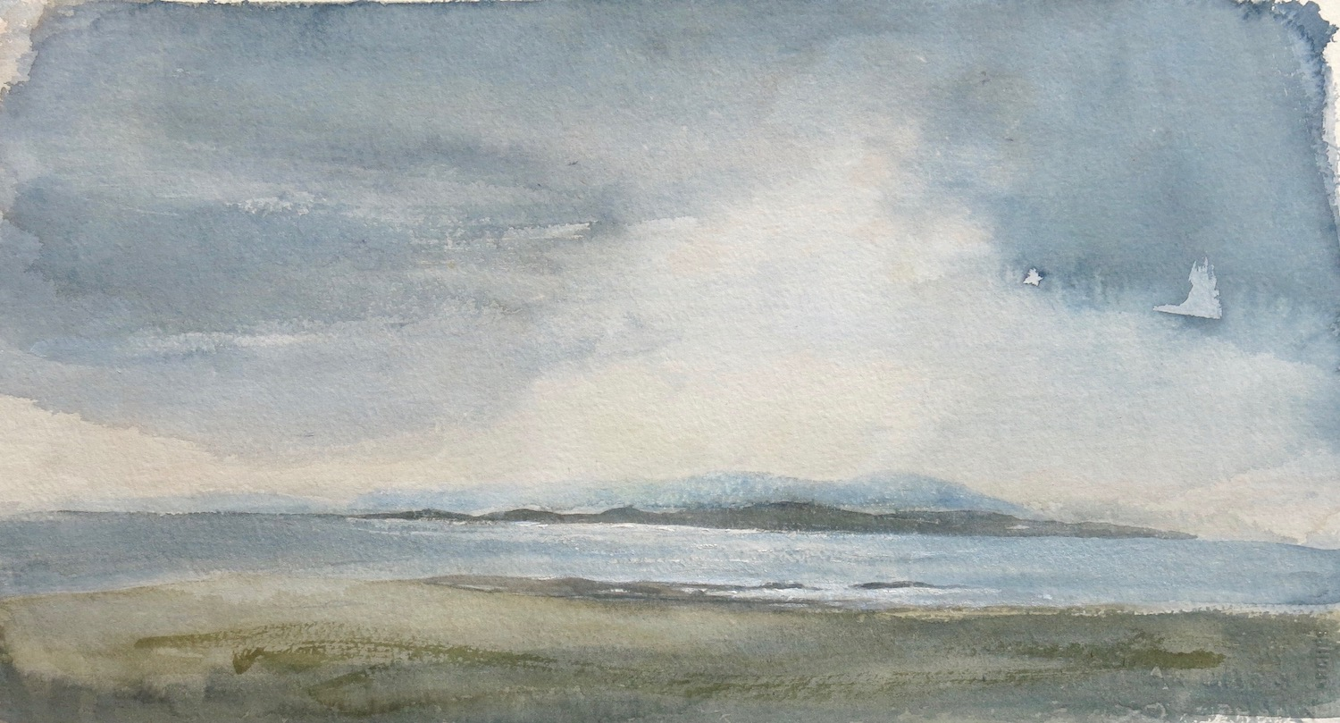 new day, Iona 2 - watercolour on paper  27x49 cm