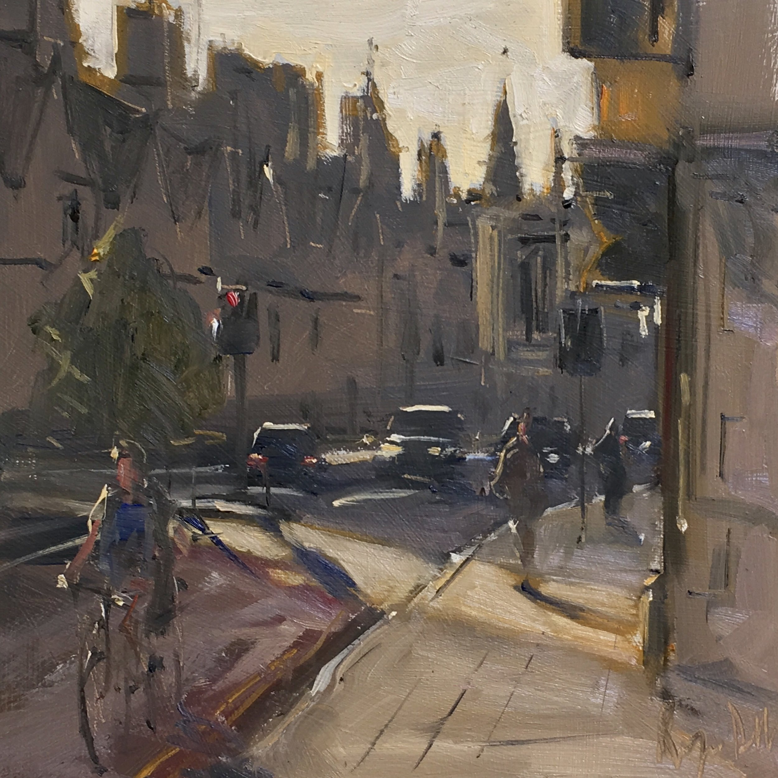 Early Morning Oxford 12x12 OIl on board