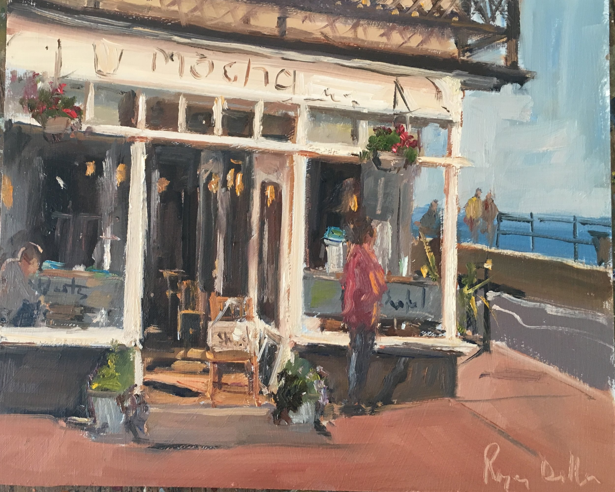 Late Afternoon Sidmouth 12x12 Oil on board