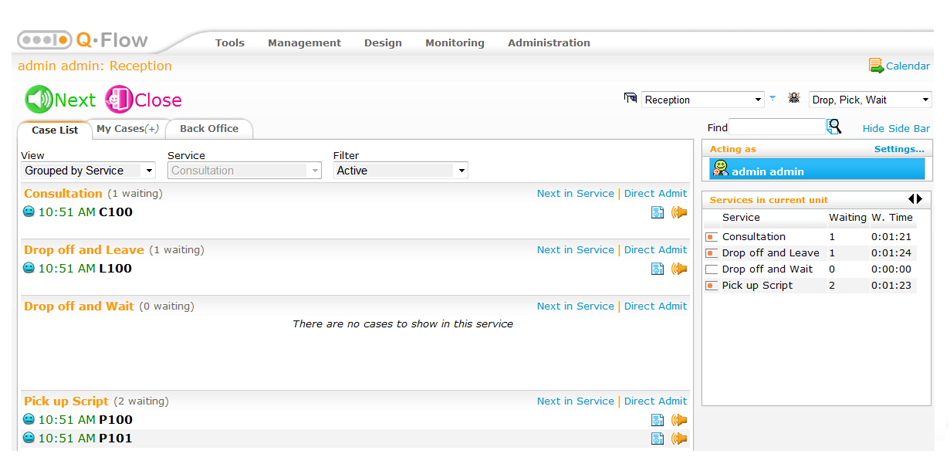 ACF Customer Flow Administration