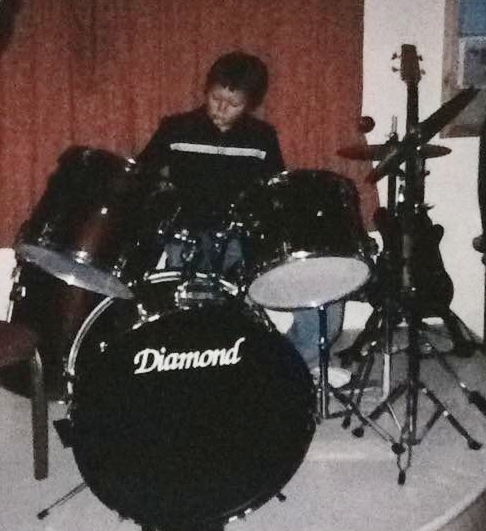 My First gig at the age of 10, just starting out.