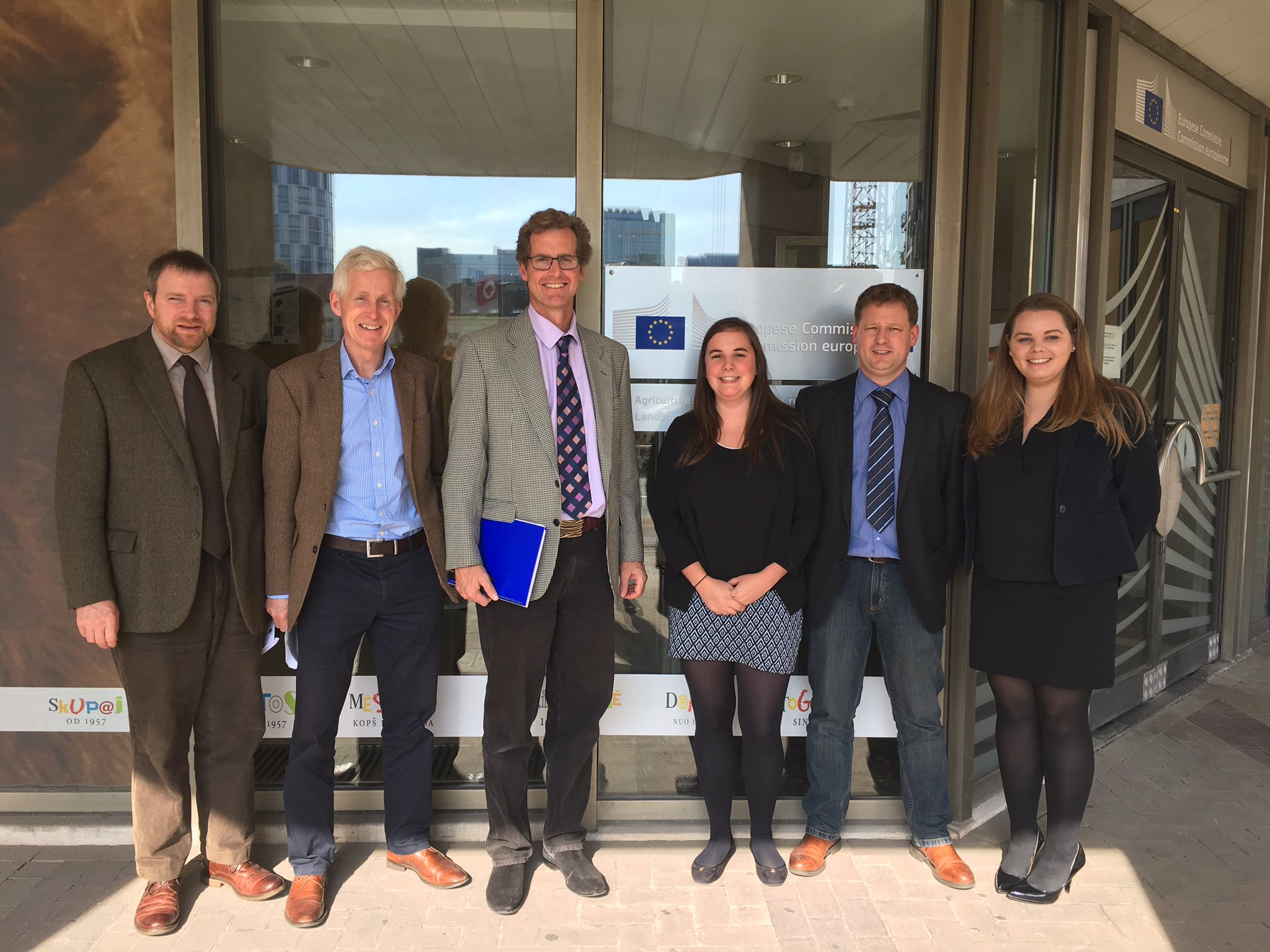 Representatives from Humphrey Feeds & Pullets travel to Brussels to urge the EU Commission to extend poultry derogations
