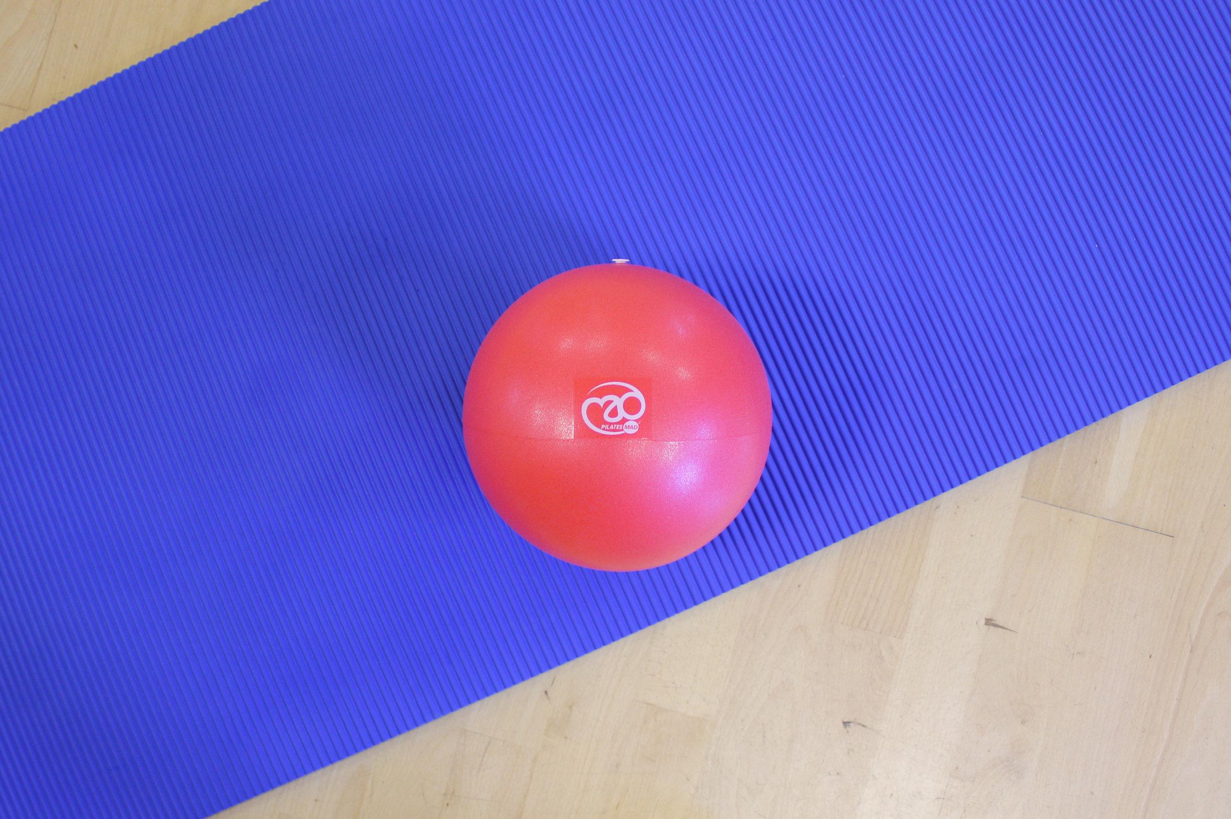 Pilates Soft Ball on Studio Pro Mat