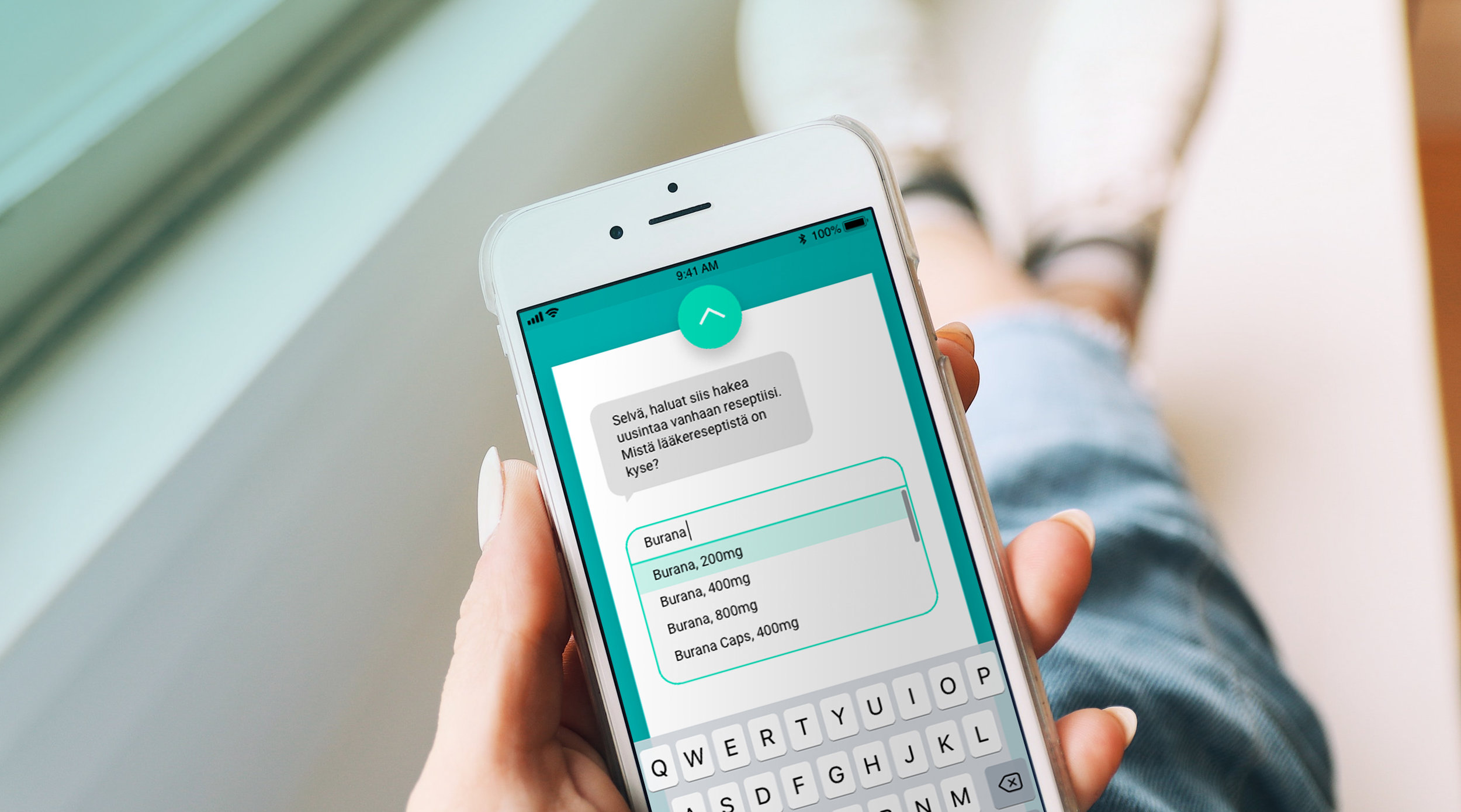 - The prescription can be renewed easily with conversational type user interface. The style was tested by users and preferred over traditional form due to enhanced user experience and smoothness.