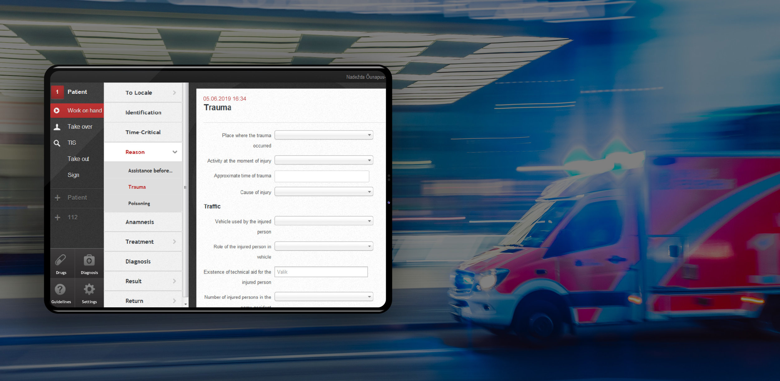 eAMBULANCE - Industry62 has made consistent work on making eHealth solutions in Estonia. eAmbulance is a service that can save lives in a time-critical situation. eAmbulance allows emergency personnel to access patients' medical records and makes the emergency reporting more efficient.