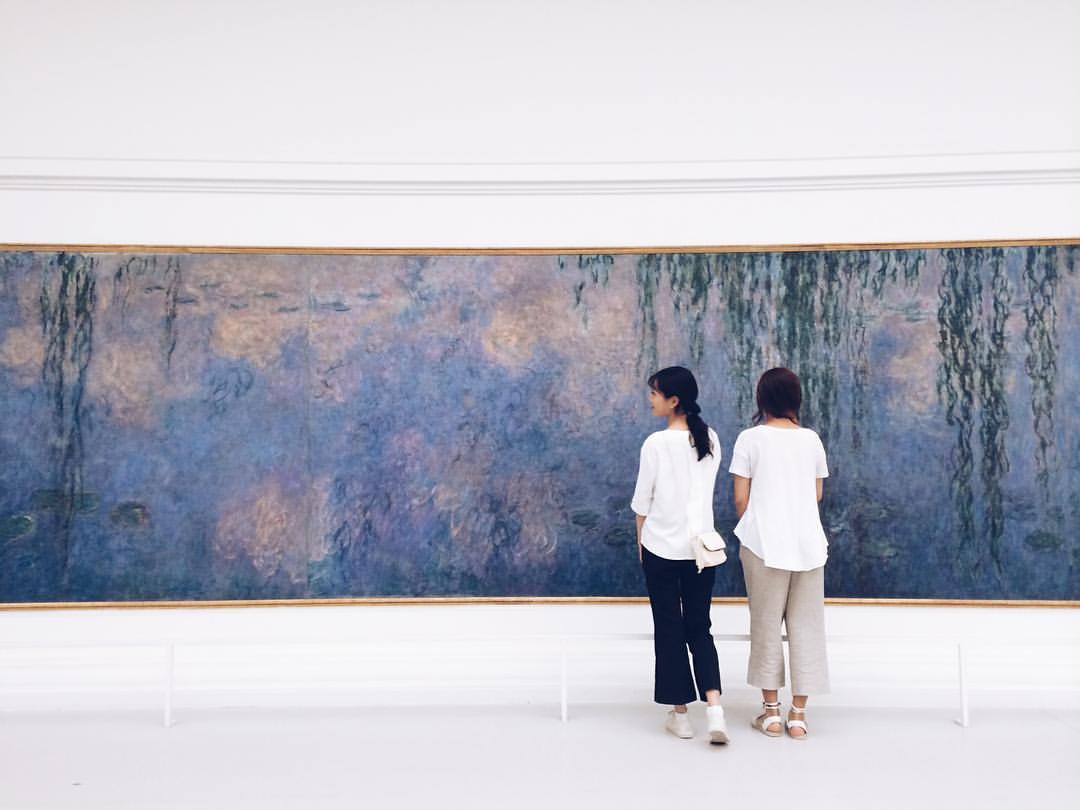 Water Lilies occupied Claude Monet for 3 decades     #paris🇫🇷 #nympheas    (at Musée de l'Orangerie)