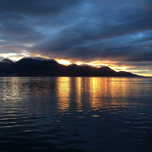 This morning at the port in Ushuaia after some adventures in Antarctica. That morning light gets me every damn time #antarcticaordie #nofilter     (at Ushuaia, Argentina)