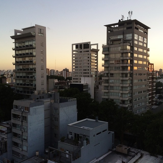 The view of Buenos Aires from my rooftop #iaintmad #antarcticaordie  (at Buenos Aires, Argentina)