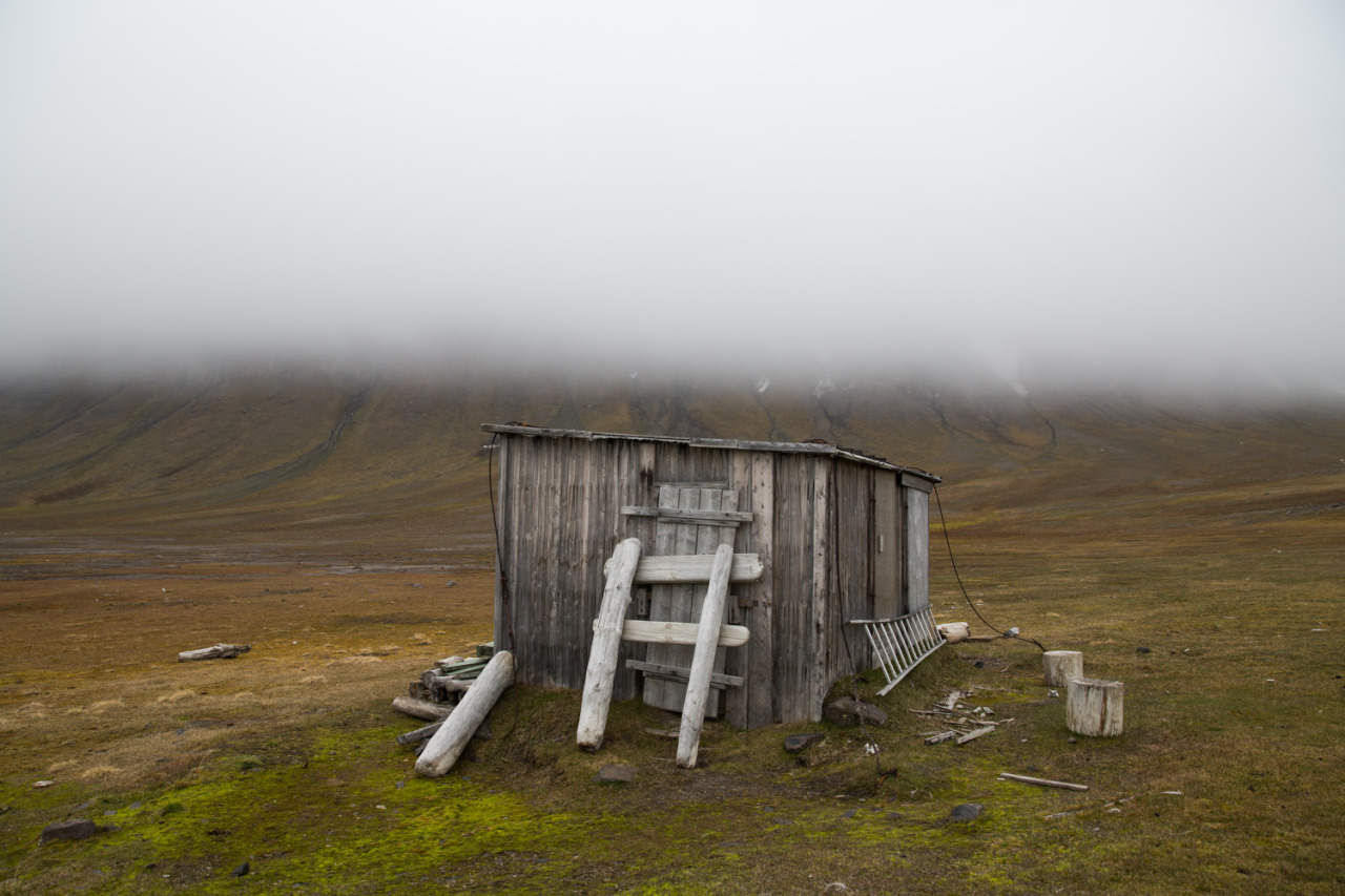 This Arctic Life     An old trapper hut built in 1902 at Kapp Lee. The thick fog rolled in quick so we had to leave this landing site in case polar bears decided to show up.