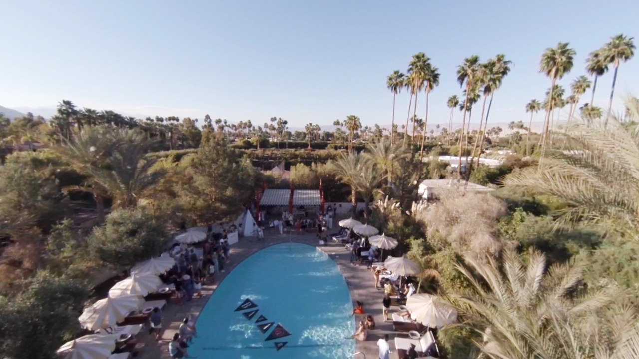 Pre Coachella Flight   An aerial shot from a video I'm directing for Harper's Bazaar, by my DP Evan Burgher, on location at the Parker Palm Springs. The set up for this shot was a hexacopter and GoPro HERO3.