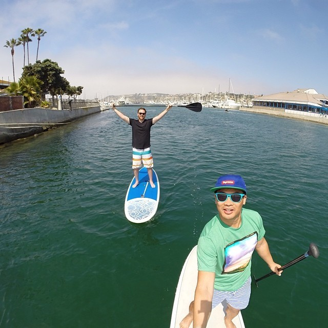 Self Portrait Series   Stand up paddling my old stomping ground with @evanburgher @gopro @gopole #gopro #selfie #goprooftheday #SUP #danapoint (at Dana Point Harbor)