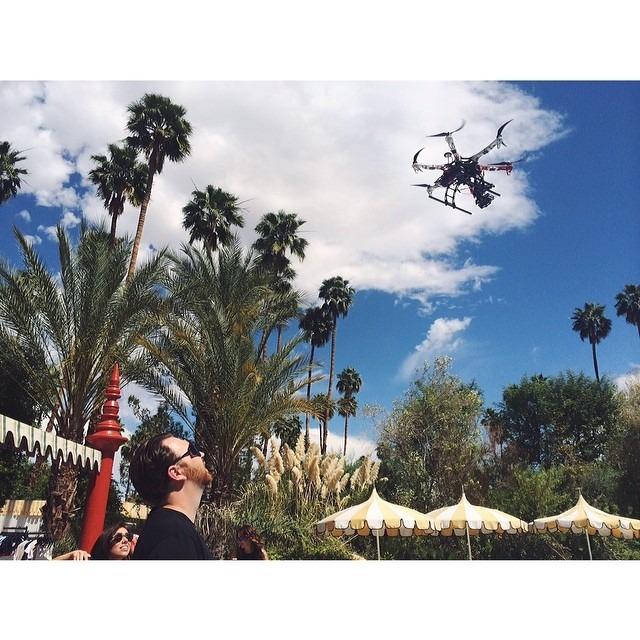 Getting some pre Coachella aerial shots with my talented aerial cinematographer @evanburgher for Harper's Bazaar. #shopbazaar #bazaaratcoachella #coachella #coachella2014 #harpersbazaar (at Le Parker Méridien Palm Springs)