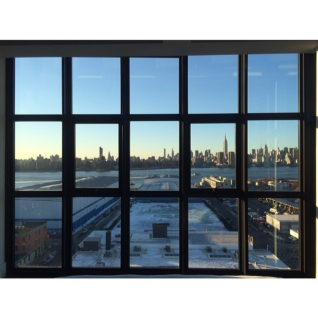 It's absolutely glorious from the top suite at the Wythe #lifeisbeautiful #nofilter #magichour (at Wythe Hotel)