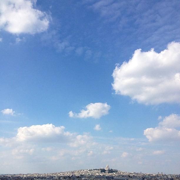 #paris needs #nofilter. #sacrecoeur from a distance  #cityoflight (at Paris)