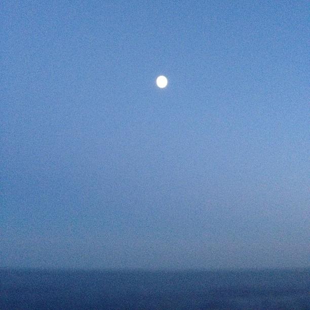 #maine #moon (at Cape Elizabeth, Maine)