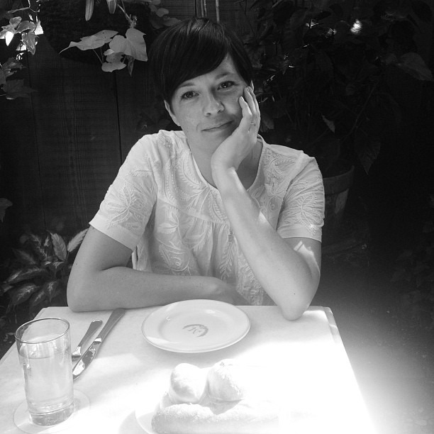 Gabi, my friend from high school, photographs really well. I just wish she wasn't so camera shy.  (at Maison Premiere)