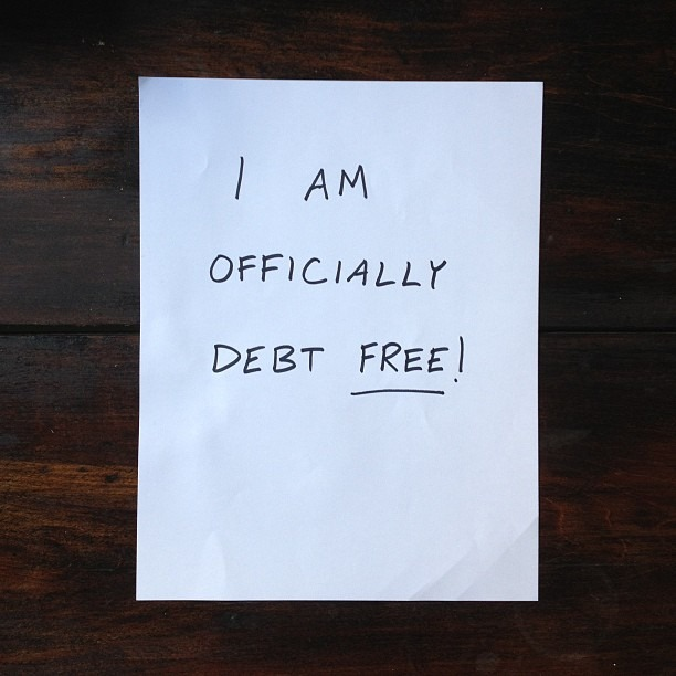 I paid off my last student loan and am now officially #debtfree! Thanks @daveramsey for showing me the ropes. If you're college bound and are considering borrowing money, don't do it. Instead, try and creatively raise as much cash as possible.  (at NYC)