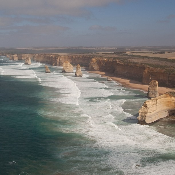 Just flying over the #12Apostles in a helicopter. No big deal #greatoceanroad