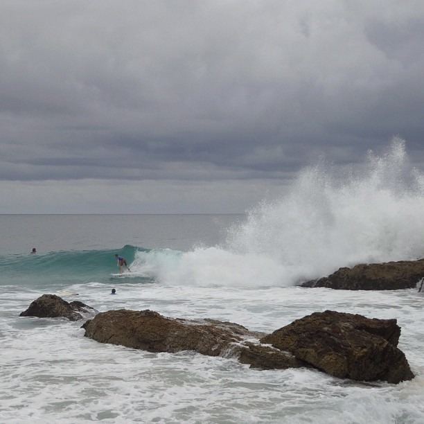 Where I've been the past 5 days (at Snapper Rocks Beach)