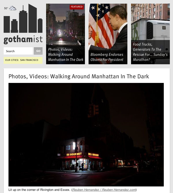 Some of my dark and eerie photos from last night's cycling expedition were published on Gothamist today, along with some others. View them   here  .