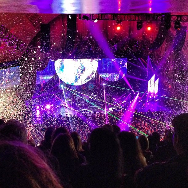 Coldplay, confetti, and laser beams (Taken with  Instagram  at Radio City Music Hall)