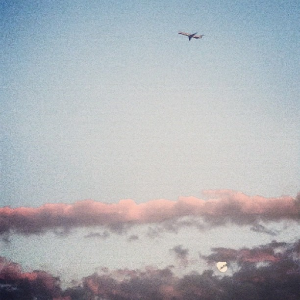 Flying Over the Moon, Literally (Taken with  Instagram )