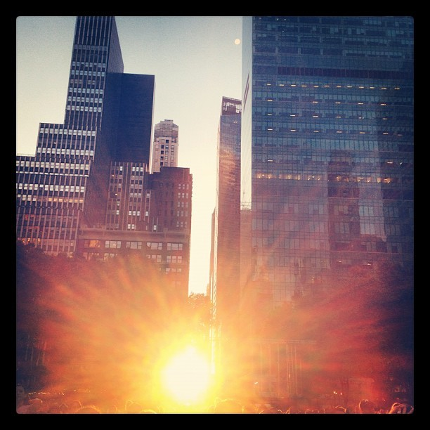 Magic hour. Tropfest at Bryant Park, NYC (Taken with  Instagram  at Bryant Park)