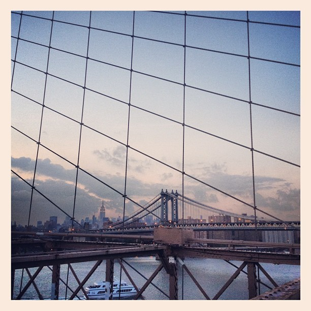 Brooklyn Bridge. Manhattan Bridge. Empire State. East River Ferry (Taken with  Instagram  at Brooklyn Bridge)