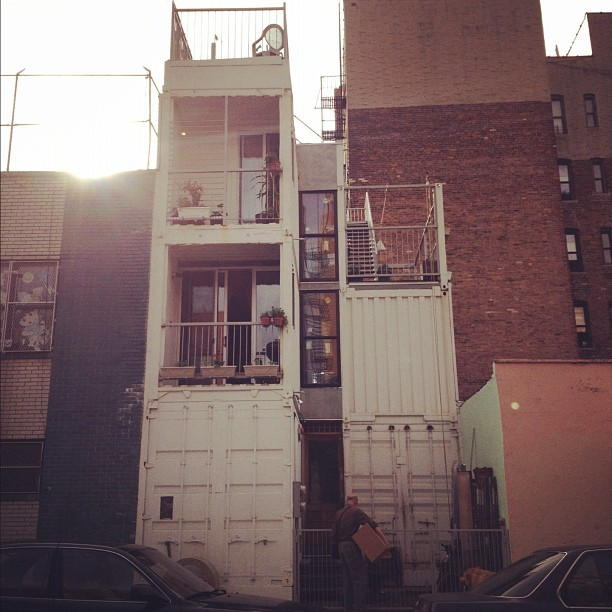 House made of 6 shipping containers & insulated with NASA ceramic infused paint. Pure genius (Taken with  instagram )