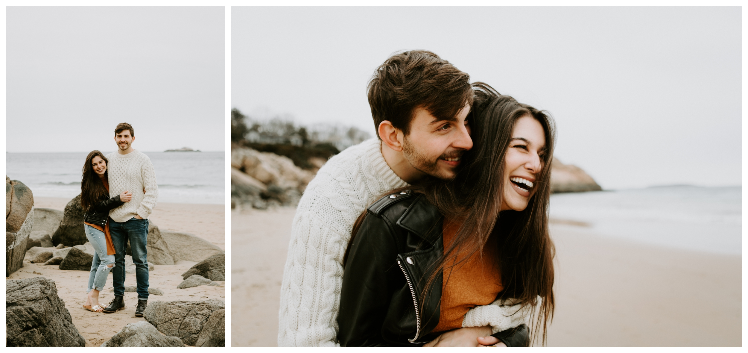 playful engagement session