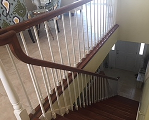 Popular railing color scheme