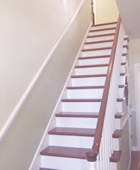 Stairs painted white - stained treads
