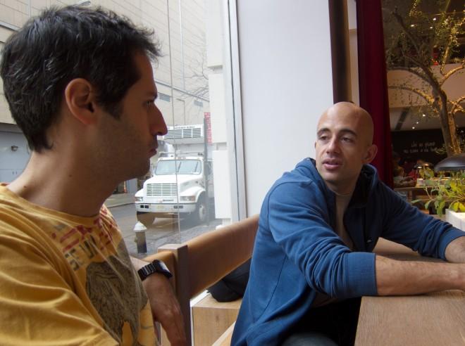 Charlie (right) at NYC Innovation Friday