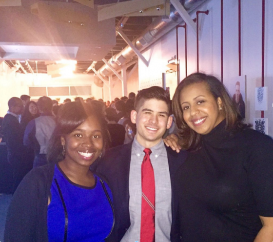 Allyson Scrutchens of Blue1647, Tomás de'Medici and Erin Slone, Startup Institute Chicago Tech Winter Soiree leaders.