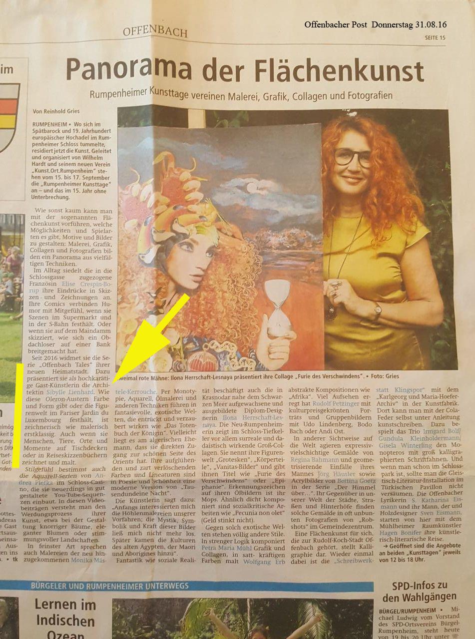 Artikel in der Offenbacher Post 31.08.17