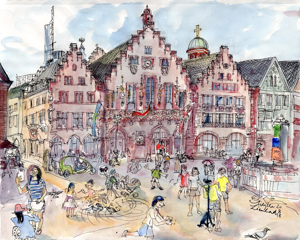 Römer Frankfurt, 2018 (auch als Postkarte erhältlich)
