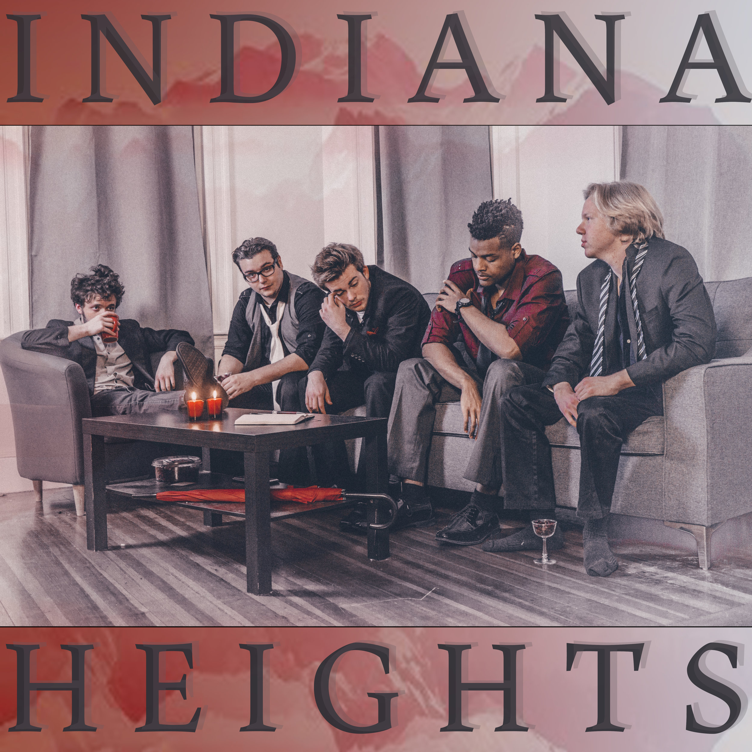 Band Promo/Album Covers - -hourly rate for shooting + flat fee per image file-flat fee for cover designThis is the cover of Indiana Heights' self titled album.Image & cover design by Holy Smoke Photography.