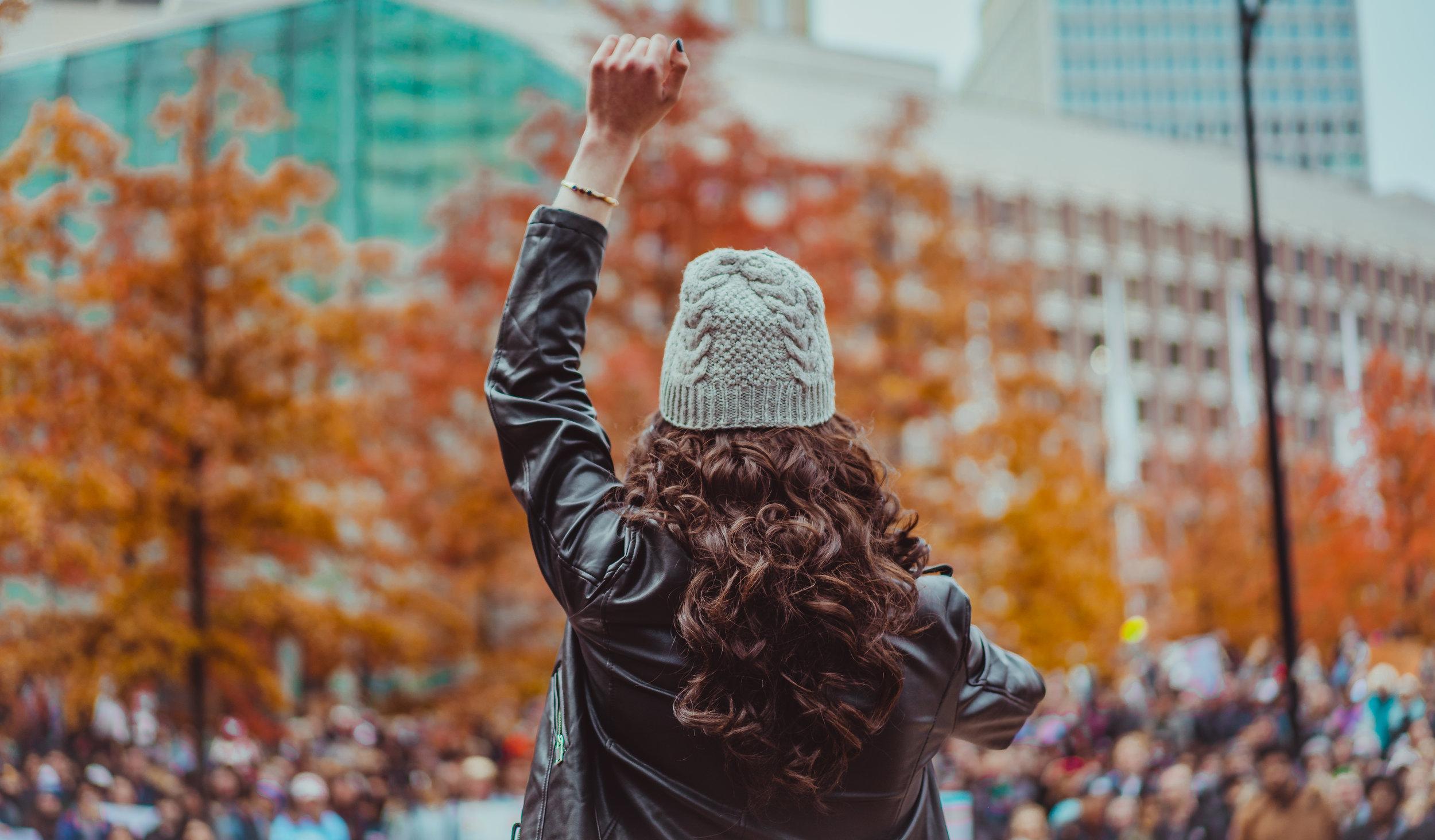 Jackie Rae at Boston Trans Rights Rally 2018