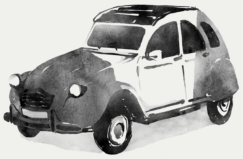 Citroen CV2 Illustration