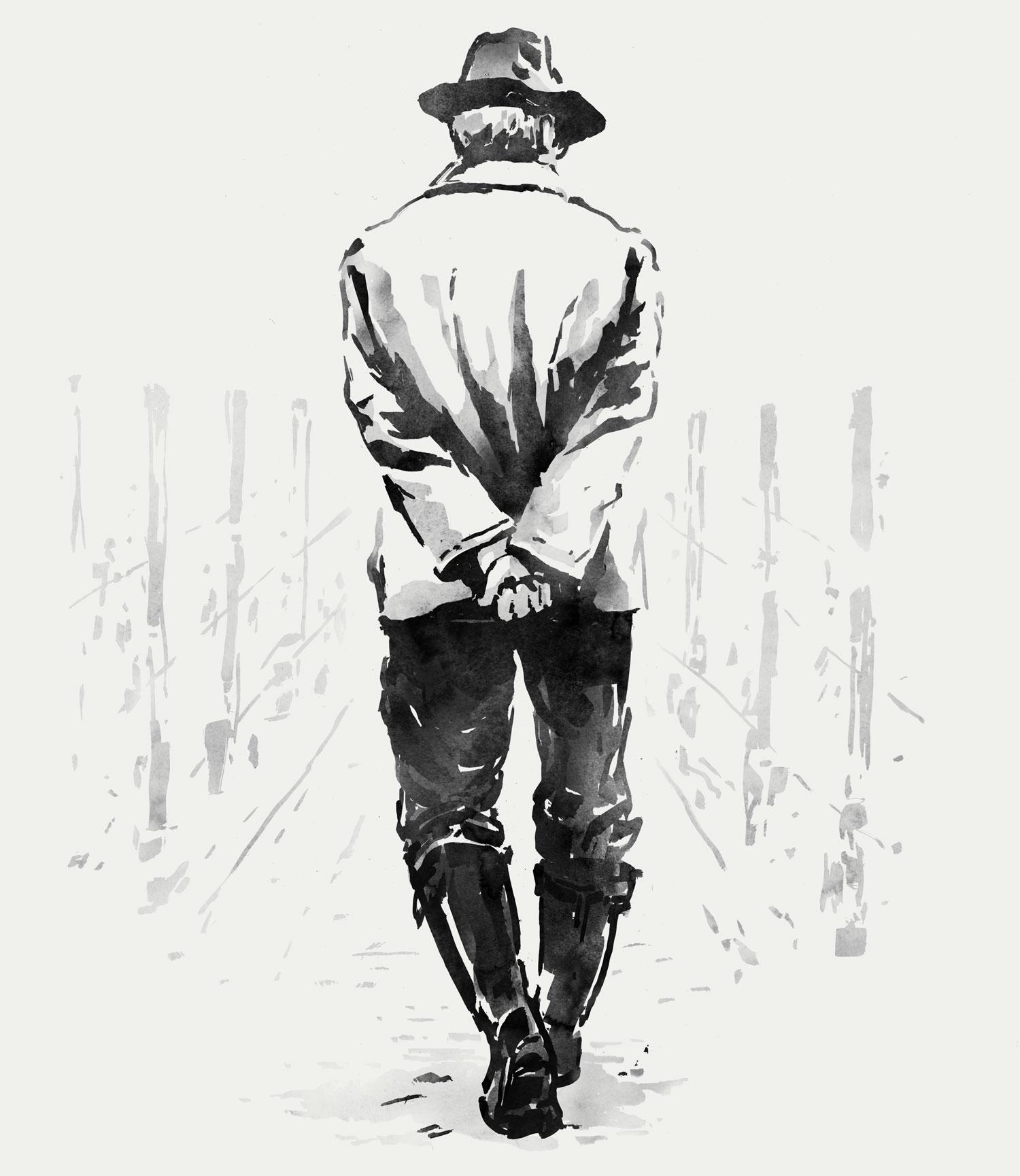 Gentleman farmer winemaker illustration