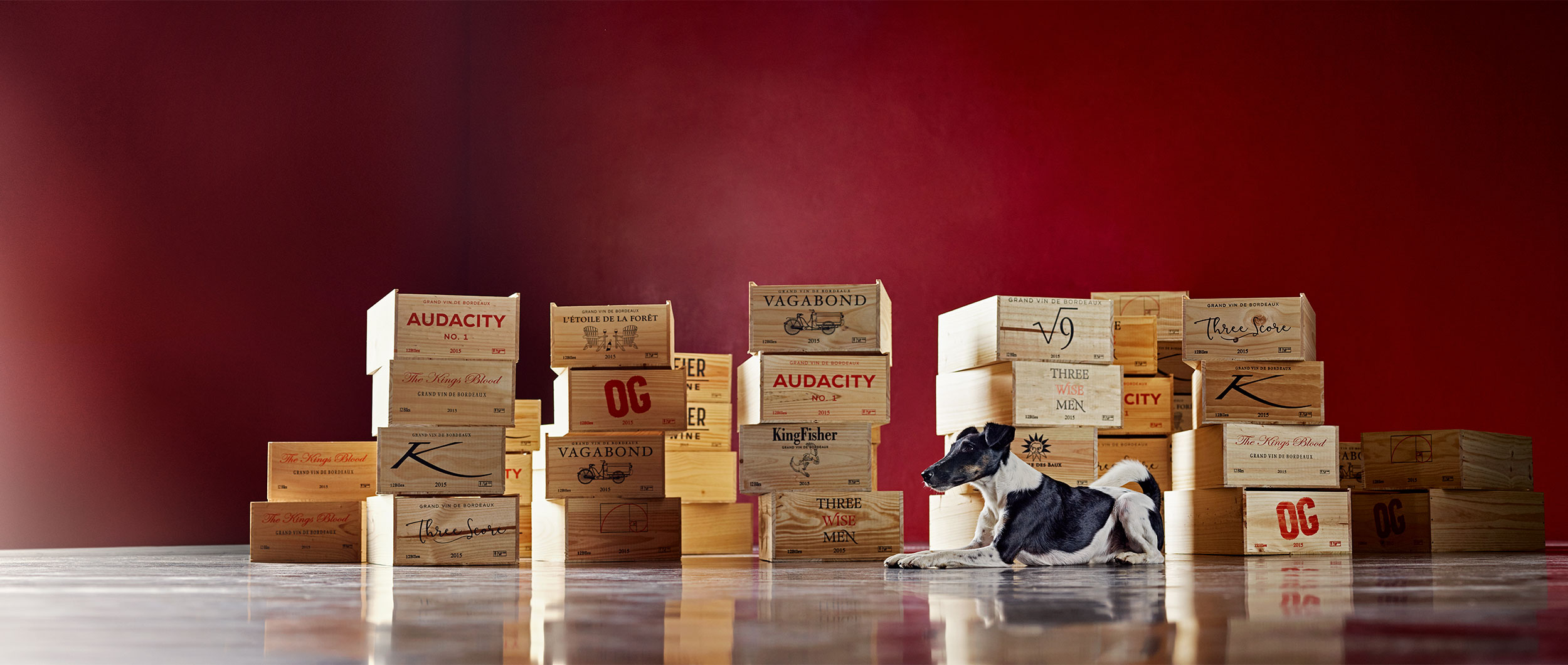 Custom Bordeaux wines boxed and branded